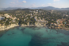 Aereal view of Mallorca´s coast. Royalty Free Stock Images