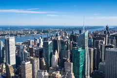 Aereal view of new york city Royalty Free Stock Photo
