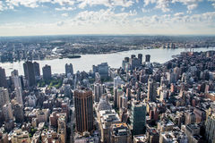 Aereal view of new york city Royalty Free Stock Photos