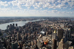 Aereal view of new york city Royalty Free Stock Images