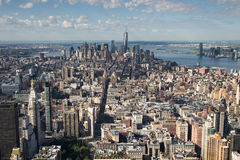 Aereal view of new york city Stock Photography