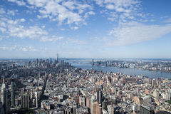 Aereal view of new york city Stock Photos