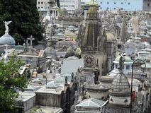 Aereal wiew of the Old Recoleta Cemetery Buenos Aires - Argentina. Aereal wiew of the old Recoleta Cemetery Royalty Free Stock Image