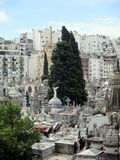 Aereal wiew of the Old Recoleta Cemetery Buenos Aires - Argentina royalty free stock images