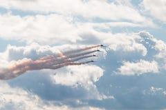 Aerei acrobatici L-39 Fotografia Stock