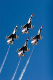 Aerei da caccia del F-16 Thunderbird fotografia stock