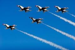 Aerei da caccia del F-16 Thunderbird Fotografie Stock