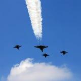 Aerei da caccia militari Flypass Fotografie Stock