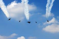 Aerei da caccia militari Flypass Immagine Stock Libera da Diritti