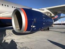 Aerei della turbina Fotografia Stock