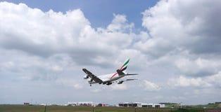 Aerei di atterraggio Fotografie Stock