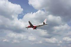Aerei di atterraggio fotografia stock