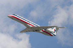 Aerei di Eagle Airlines American Airlines Embraer ERJ-140 dell'americano Immagine Stock