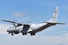 Aerei di pattuglia marittima portoghesi della CASA C-295MPA del Portuguesa di Forca Aerea dell'aeronautica 16708 immagine stock