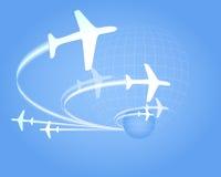 Aerei di volo Fotografia Stock