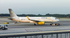 Aerei di Vueling Airlines Fotografie Stock