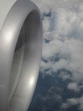 Aerei e nuvola Immagine Stock