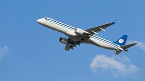 Aerei Embraer ERJ-195LR (190-200LR) Fotografia Stock Libera da Diritti