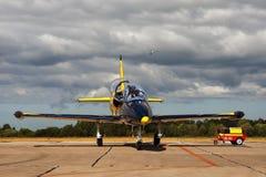 Aerei gialli blu Fotografia Stock Libera da Diritti