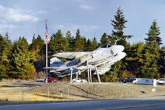 Aerei, porto della quercia, isola di Whidbey, Washington Fotografia Stock Libera da Diritti