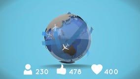 Aerei in un globo illustrazione vettoriale