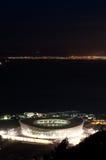 aereial绿色晚上点体育场视图 免版税库存图片