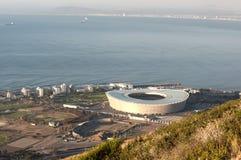 Aereial Ansicht des grünen Punkt-Stadions Stockbilder