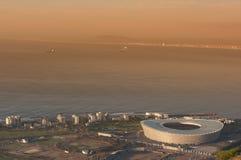 Aereial Ansicht des grünen Punkt-Stadions Stockfoto