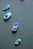 Aereial-Ansicht von Booten Stockbild