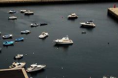 Aereial-Ansicht von Booten Stockfoto