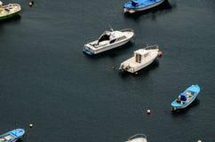 Aereial-Ansicht von Booten Lizenzfreies Stockfoto