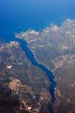 Aereial-Ansicht von Kroatien Lizenzfreie Stockbilder