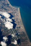Aereial-Ansicht von Rimini (Italien) Stockfotos