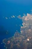 Aereial sikt av Kroatien Royaltyfria Foton