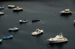 Aereial View of Boats Stock Photography
