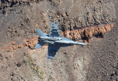 Aereo da caccia in canyon dell'arcobaleno Fotografie Stock