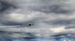Aereo da caccia di angeli blu Fotografie Stock