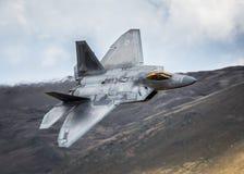 Aereo da caccia di azione furtiva F22 Fotografia Stock