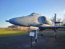 Aereo da caccia di Douglas A-4 Skyhawk in museo Fotografia Stock