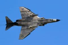 Aereo da caccia greco del fantasma dell'aeronautica F4 fotografia stock libera da diritti
