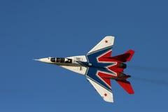 Aereo da caccia russo a airshow fotografia stock libera da diritti