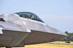 Aereo da caccia tattico del rapace F-22 fotografie stock libere da diritti