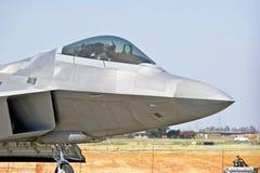 Aereo da caccia tattico del rapace F-22 immagini stock