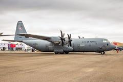 Aereo da trasporto di Lockheed C-130 Ercole dell'aeronautica di Stati Uniti Fotografie Stock Libere da Diritti