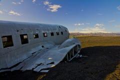 Aereo del blu marino degli Stati Uniti in Islanda del sud Fotografie Stock Libere da Diritti