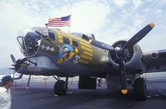 Aereo del bombardiere della seconda guerra mondiale Fotografia Stock Libera da Diritti