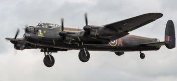 Aereo del bombardiere di Lancaster fotografie stock