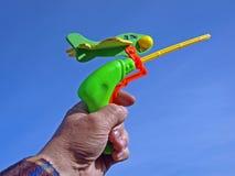 Aereo del giocattolo Fotografia Stock