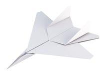Aereo del Libro Bianco su un fondo bianco rappresentazione 3d Immagine Stock