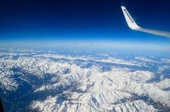 Aereo dell'ala nel cielo Fotografia Stock Libera da Diritti
